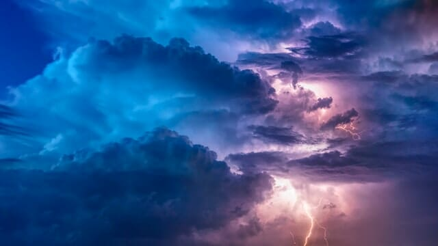 a storm and lightning