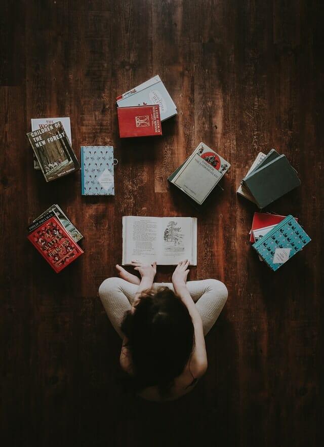 books flatlay