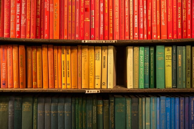 colour coordinated books